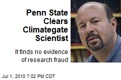 Penn State Clears Climategate Scientist