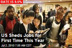 US Sheds Jobs for First Time This Year