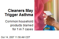 Cleaners May Trigger Asthma