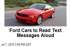 Ford Cars to Read Text Messages Aloud
