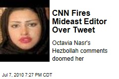 CNN Fires Mideast Editor Over Tweet