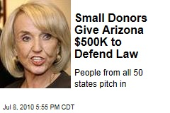 Small Donors Give Arizona $500K to Defend Law
