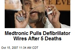 Medtronic Pulls Defibrillator Wires After 5 Deaths