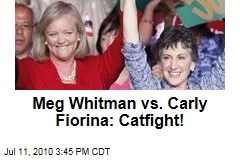 Meg Whitman vs. Carly Fiorina: Catfight!