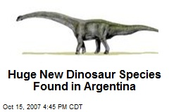 Huge New Dinosaur Species Found in Argentina