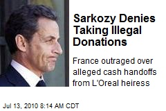 Sarkozy Denies Taking Illegal Donations