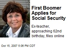 First Boomer Applies for Social Security