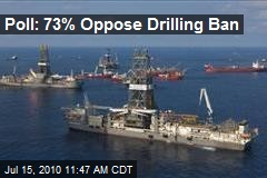 Poll: 73% Oppose Drilling Ban
