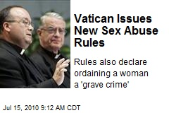 Vatican Issues New Sex Abuse Rules