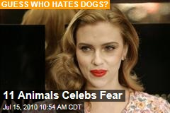 11 Animals Celebs Fear