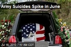 Army Suicides Spike in June