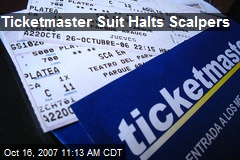 Ticketmaster Suit Halts Scalpers