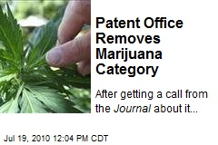 Patent Office Removes Marijuana Category