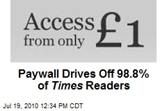 Paywall Drives Off 98.8% of Times Readers