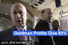 Goldman Profits Dive 83%