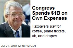 Congress Spends $1B on Own Expenses