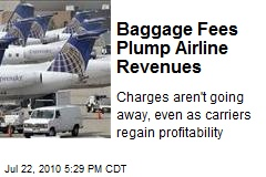 Baggage Fees Plump Airline Revenues
