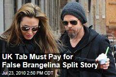 UK Tab Must Pay for False Brangelina Split Story