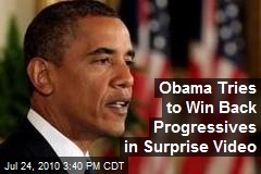 Obama Tries to Win Back Progressives in Surprise Video