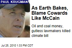As Earth Bakes, Blame Cowards Like McCain