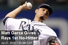 Matt Garza Gives Rays 1st No-Hitter