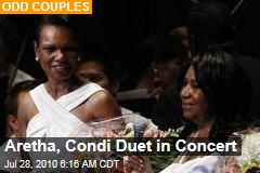 Aretha, Condi Duet in Concert