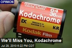 We'll Miss You, Kodachrome