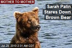 Sarah Palin Stares Down Brown Bear