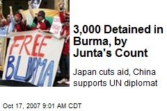 3,000 Detained in Burma, by Junta's Count