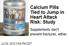 Calcium Pills Tied to Jump in Heart Attack Risk: Study
