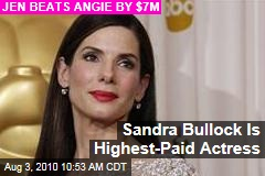 Sandra Bullock Is Highest-Paid Actress