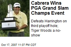 Cabrera Wins PGA Grand Slam Champs Event