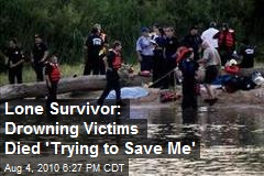 Lone Drowning Survivor: 'They Were Trying to Save Me'
