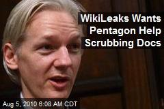 WikiLeaks Wants Pentagon Help Scrubbing Docs