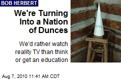 We're Turning Into a Nation of Dunces