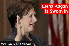 Elena Kagan Is Sworn In