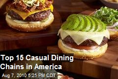 Top 15 Casual Dining Chain Restaurants in America