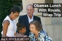 Obamas Lunch With Royals, Wrap Trip