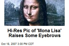 Hi-Res Pic of 'Mona Lisa' Raises Some Eyebrows