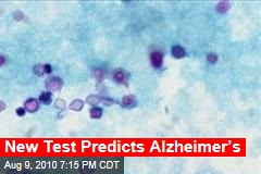 New Test Predicts Alzheimer's