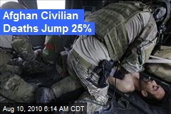 Afghan Civilian Deaths Jump 25%