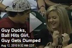 Guy Ducks, Ball Hits Girl, Guy Gets Dumped