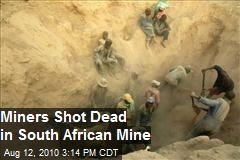20 miners shot dead in South African mine