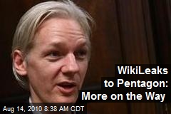 WikiLeaks to Pentagon: More on the Way