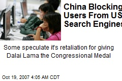 China Blocking Users From US Search Engines