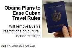 Obama Plans to Ease Cuban Travel Rules
