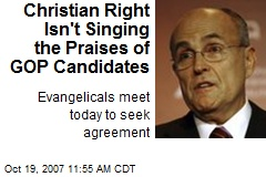 Christian Right Isn't Singing the Praises of GOP Candidates