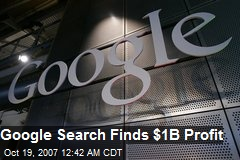 Google Search Finds $1B Profit