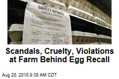 Scandals, Cruelty, Violations at Farm Behind Egg Recall