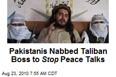 Pakistanis Nabbed Taliban Boss to Stop Peace Talks